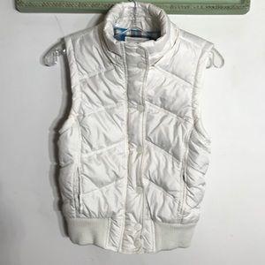 Aeropostale White Quilted Puffer Vest Sz Medium